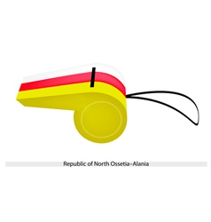 A whistle of republic of north ossetia alania vector