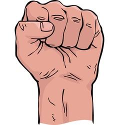 Cartoon fist vector