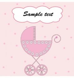 Baby girl arrival vector