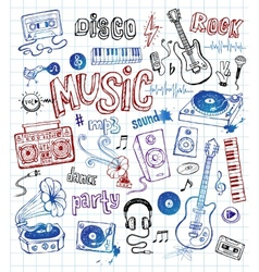Music doodles vector