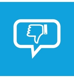Dislike message icon vector