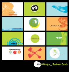 Business cards pastel vector