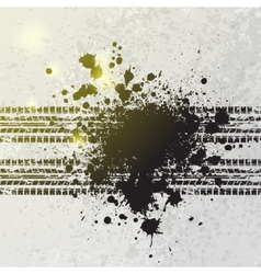 Ink blots tire track background vector