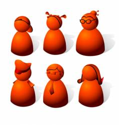Red people vector