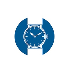 Simple wristwatch graphic classic hour hand vector