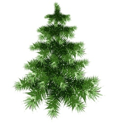 Fluffy green christmas tree vector