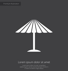 Parasol mask premium icon vector