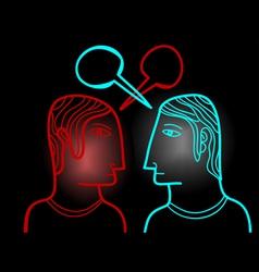Face to face opinion vector