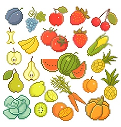 8 bit fruits vector