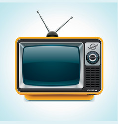retro tv xxl icon vector