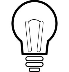 Lit light bulb isolated on white vector