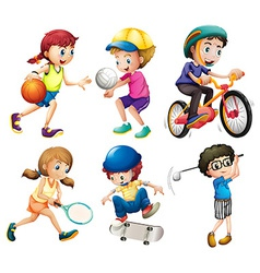 Children and sports vector