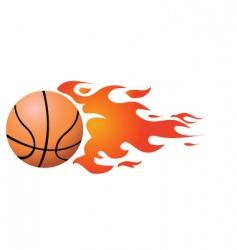 Flaming ball vector