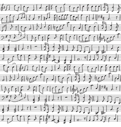 Handwritten musical notes vector