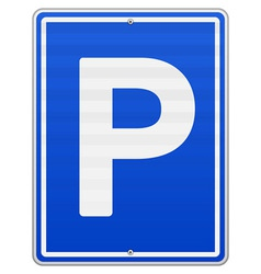 Isolated parking sign vector