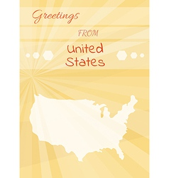 Greetings from united states vector