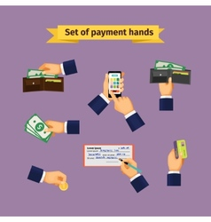Assorted mode of payment types vector