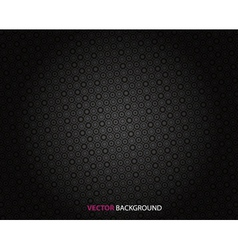 Abstract dark background with circles vector