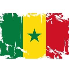 Senegalese grunge flag vector