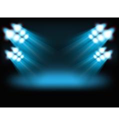 Bright spot lights vector