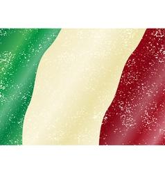 Italian grunge flag vector