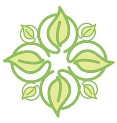 Icon green leaves vector