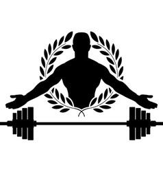 Glory of bodybuilding vector