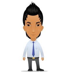 Businessman with modern hairstyle vector