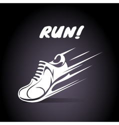 Run poster design vector