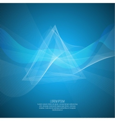 Techno abstract background with soft lines vector