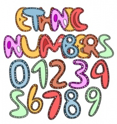 ethinic numbers vector