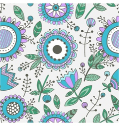 Seamless floral pattern decorative background vector