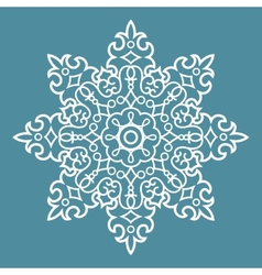Round arabesque pattern vector