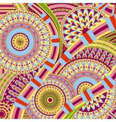 Attractive tribal ethnic background design vector