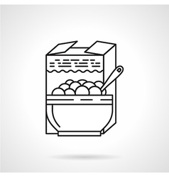 Porridge black line icon vector