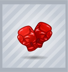 Red boxing gloves isolated sport item vector