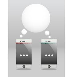 Modern phones with speech cloud conversation vector