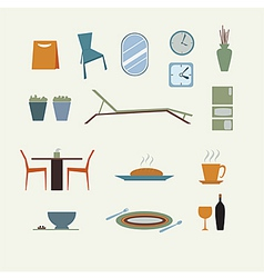 Furniture for home decorate vector