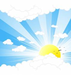 Sunny sky background vector