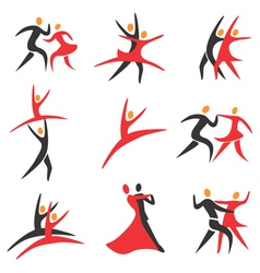Icons dancing vector