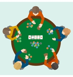 Poker game people vector