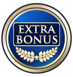Extra bonus blue label vector