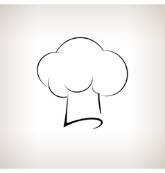 Silhouette chefs toque hat on a light background vector