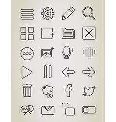 Web outline icon vector