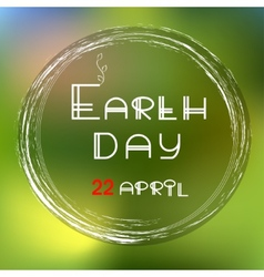 Earth day green icon vector