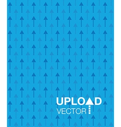 Blue upload background vector