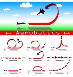 Aerobatics airplane on blue sky background vector