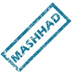 Mashhad rubber stamp vector