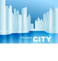 Sketch of a modern city vector