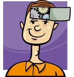 Clever guy cartoon vector